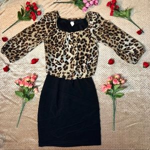 B Darlin Classy Leopard Dress